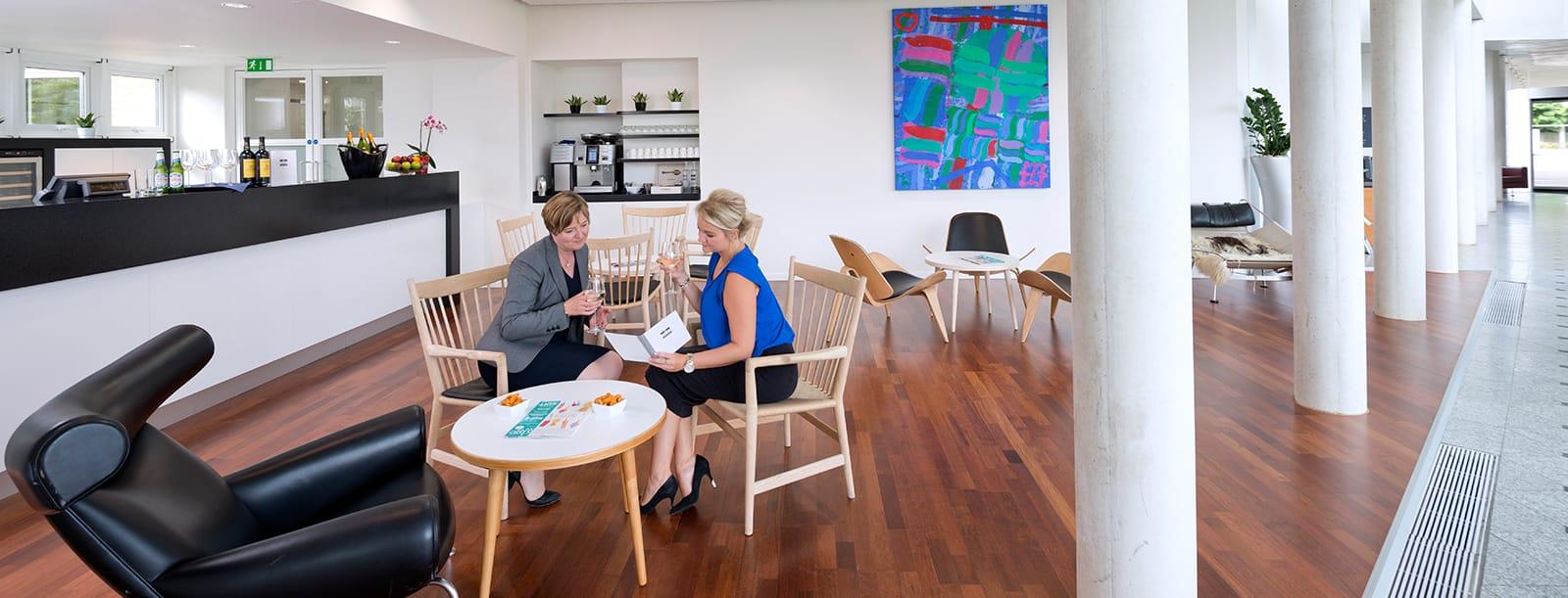 Meeting in the Hans J Wegner Lounge
