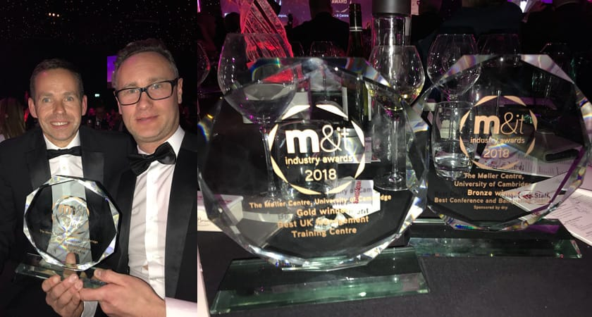 Picture of Daren and Stefan at the M&IT Awards for the Møller Centre