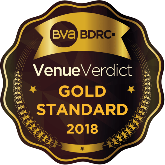 Picture of the Venue Verdict Gold Standard icon for 2018
