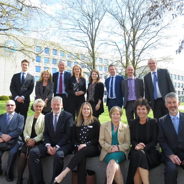 Picture of the Moller Institute team outside Maersk head office