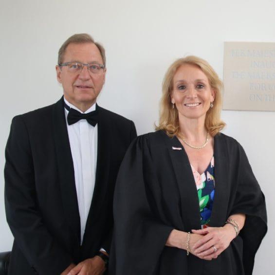 Picture of Gillian Secrett and the Ambassador of Denmark