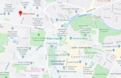 Picture of a map showing where Moller Institute is