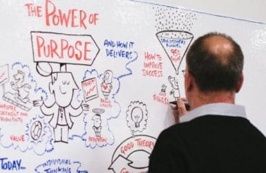 Picture of a graphic from the Power of Purpose event