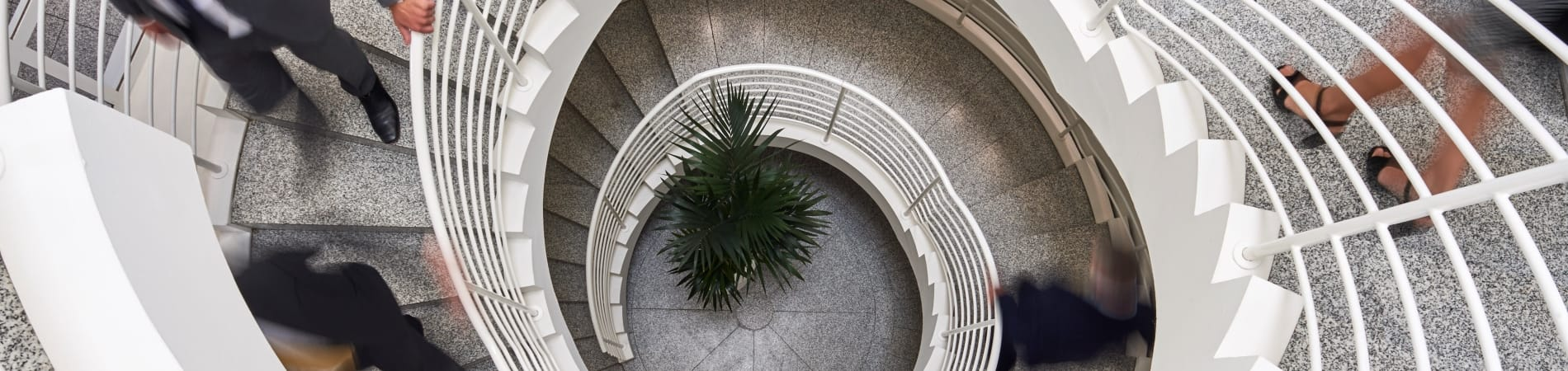 Picture of spiral stair case at Moller Institute