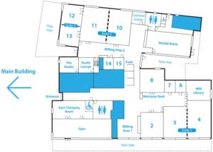 Study centre Floor plan