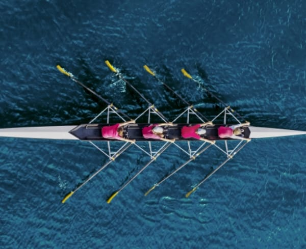 Picture of people rowing