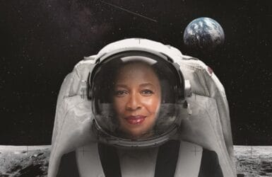 Picture of a space woman from the Explorer Mindset programme at Moller Institute