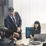 Picture of business people talking