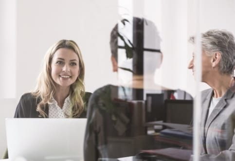 Picture of a business woman in a meeting