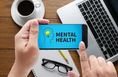 Picture to represent mental health at work