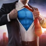 superman in a suit