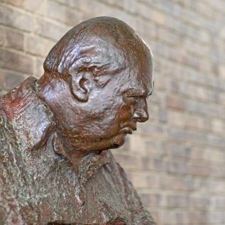 Churchill College Winston Churchill bust